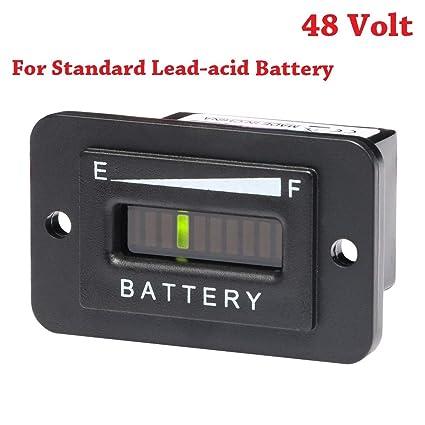 SEARON 48 Volt LED Battery Status Charge Indicator Monitor