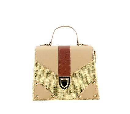 Bohemian Straw Bags For Women Beach Handbags Summer Vintage Rattan Bag Handmade Kintted Crossbody Bag