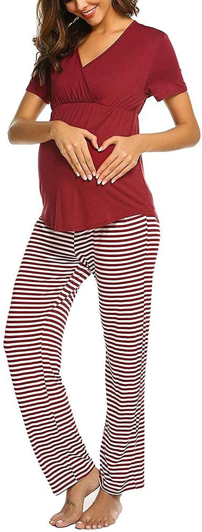 STRIR-Ropa Premamá Lactancia Mujer Pijama Conjunto ...