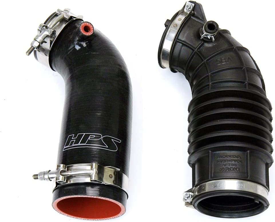 Post MAF Tube HPS 57-1596-BLK Black Silicone Air Intake Hose