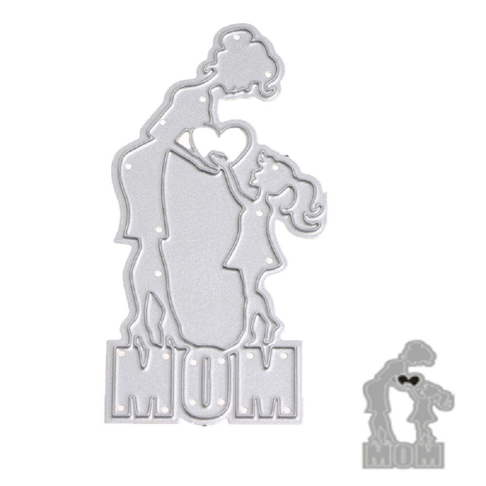 liyudl troqueles de corte de metal plantilla para molde para DIY álbum de recortes, diseño de tarjeta de papel Craft Decoración Nuevo (mamá & kid): ...