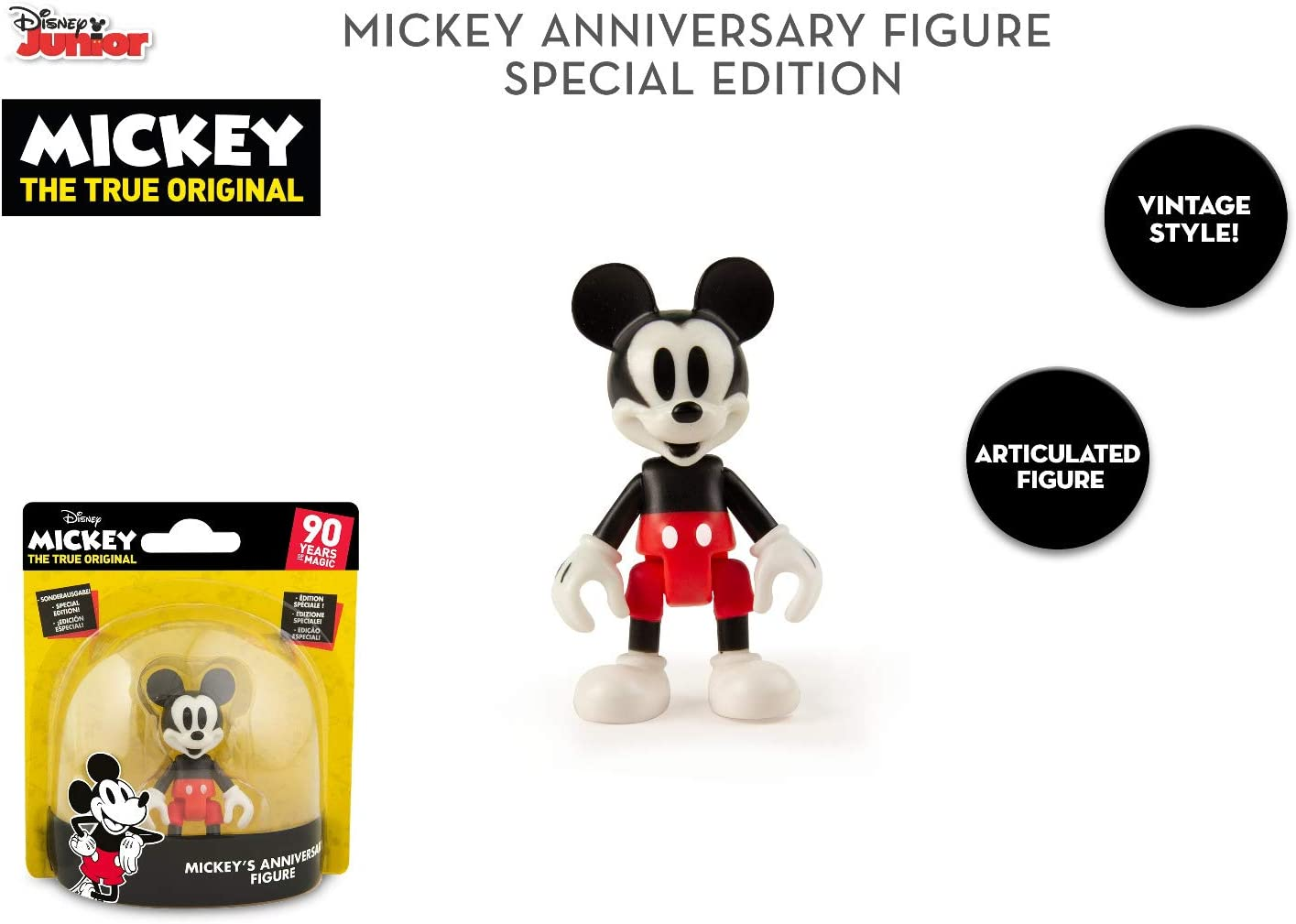 White DIY Mickey Mouse 90th Anniversary Collectible Figure Pop Disney