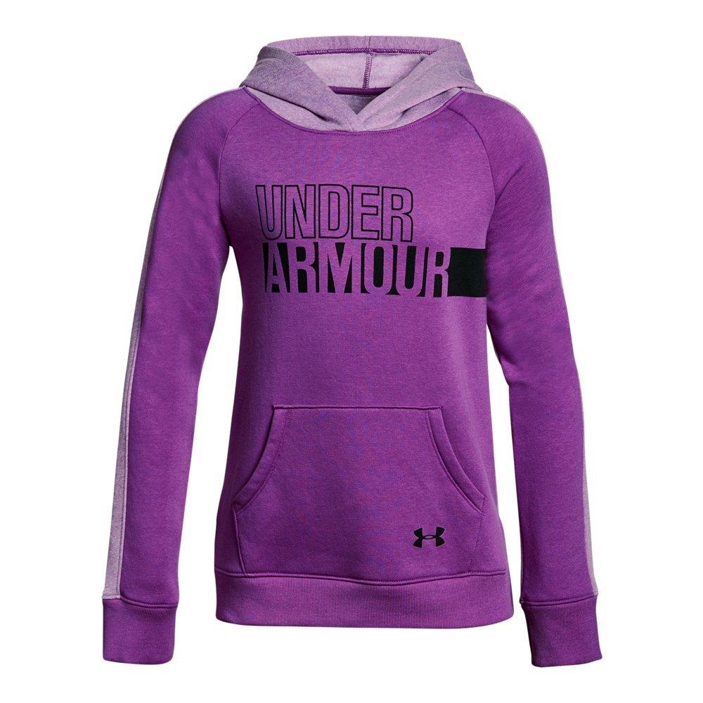 Under Armour Girls' Favorite Fleece Hoodie,Purple Rave (959)/Indulge, Youth X-Large