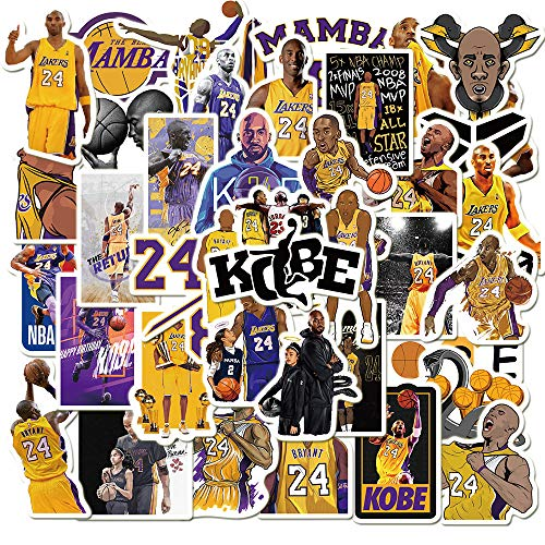 🥇 Basketball Star Stickers Kobe Black Mamba Sticker Small Decal 50 Pack for Laptop Cars Room Wall Car Window Hydroflasks Water Bottles