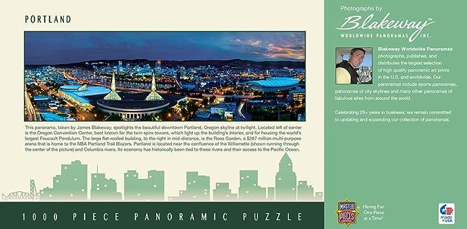 NEW MASTERPIECES-PANORAMIC-CITYSCAPES-PUZZLE-PORTLAND-OREGON-1000-PCS-71590