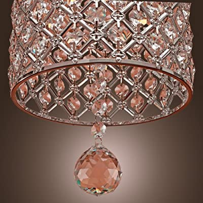 LightInTheBox Contemporary Crystal Drop Pendant Light in Cylinder Style