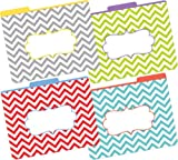 Barker Creek 1/3 Cut Tabs Reversible Letter-Size Fashion File Folders, 12-Count (LL-1331)
