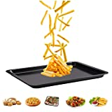 Cookie Sheet 10x14.5 Inch (Inner 9x13) Baking Sheet Nonstick Heavy Carbon Steel Baking Pans, Bakeware for Pizza, Chicken Wings, Fish Sticks, Bacon, Roasting, Mini Muffin Cupcakes by HYTK