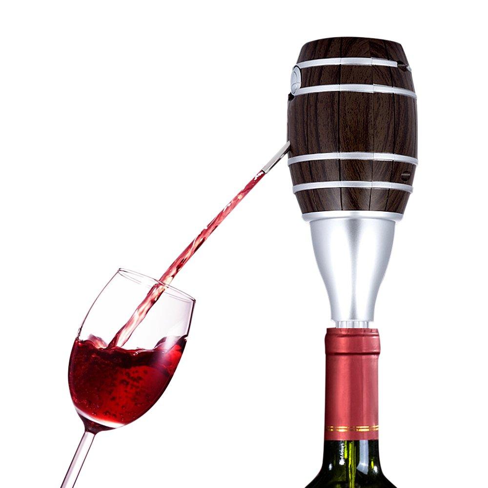 Dispensador eléctrico de vino tinto, dispensador de vino rojo SZRWD con tapón a pilas, herramienta eficaz para botella, botella, botella, ...