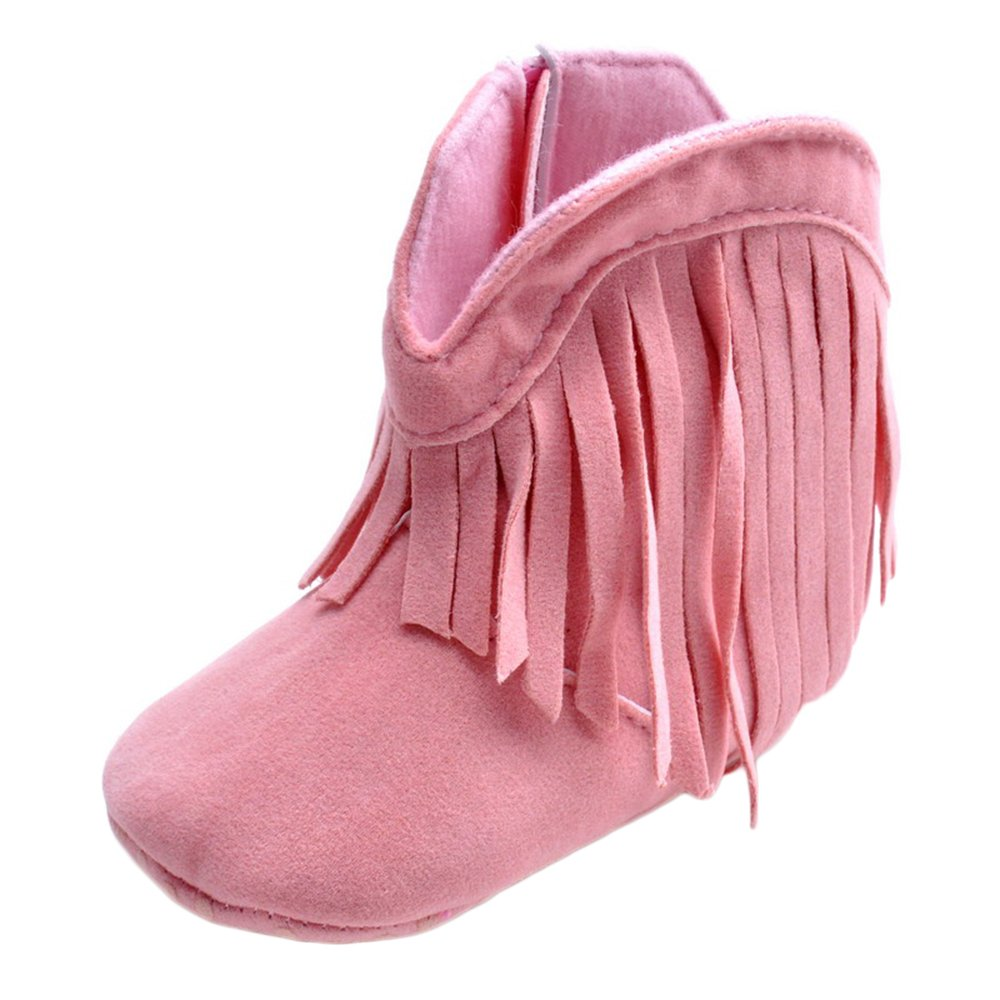 Matt Keely Baby Tassel Cowboy Boots Infant Zip Soft Sole Shoes Booties