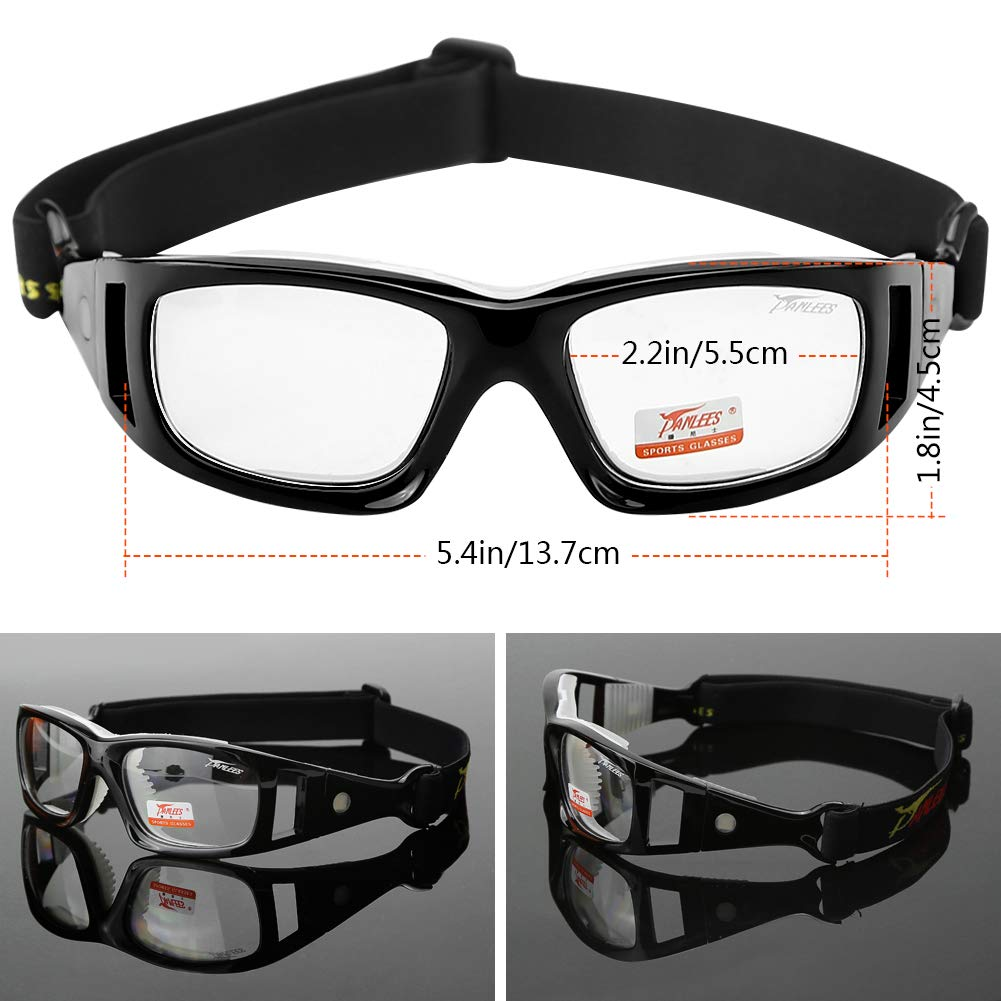 dc476d6490 Amazon.com   Panlees Goggles Sports Glasses Adjustable Elastic Wrap Eyewear  For Soccer Basketball Tennis Lover (Black)   Sports   Outdoors