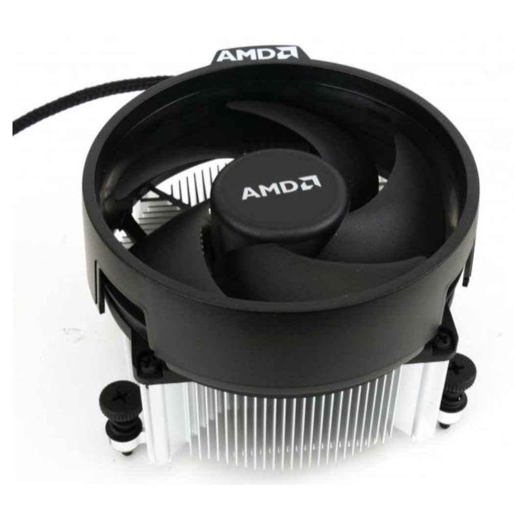 AMD Wraith Spire Socket AM4 4-Pin Connector CPU Cooler With Copper Core Base & Aluminum Heatsink & 3.81-Inch Fan With TronStore Thermal Paste For Desktop PC Computer (TS35)