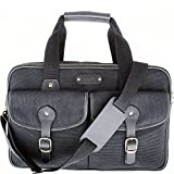 Leatherbay Turin Commuter Briefcase,Black,One Size