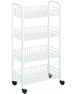 Metaltex USA Inc. 4 Tier Rolling Cart, White