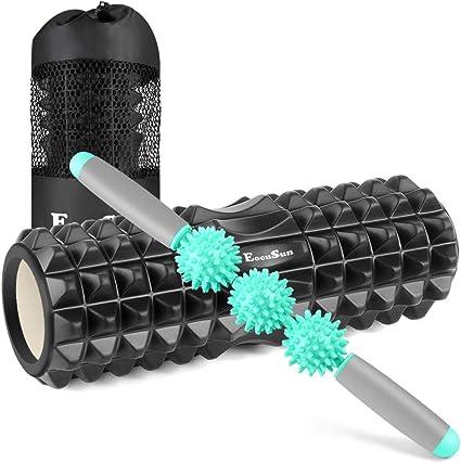 Massagerolle f/ür Faszientraining und Fitnessmassagen e-Best Fitnessrolle Faszienrolle