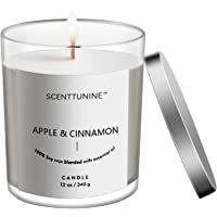 Scenttunine Scented Candle, Pure Natural Organic Soy Wax Candle Jar 50h Burn Time Aromatherapy Fall Candles for Home…