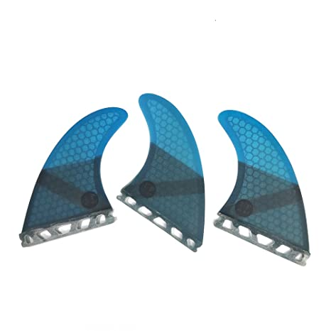 UPSURF Surfboard Fin Future Basic Fin Medium Size G5 tri Fin Choose Color (Blue)
