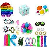 Fidget Toy Pack, 28Pcs Fidget Toys Cheap Fidget Toys Set Sensory Fidget Toys for Kids Adults, Simple Dimple Fidget Toys…