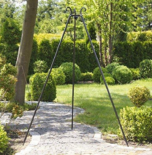 Dreibein Standfuß für Grill aus Metall incl. Kette, Höhe ca. 210cm