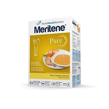 MERITENE Pure pollo con patatas y zanahorias 6 sobres: Amazon.es: Salud y cuidado personal