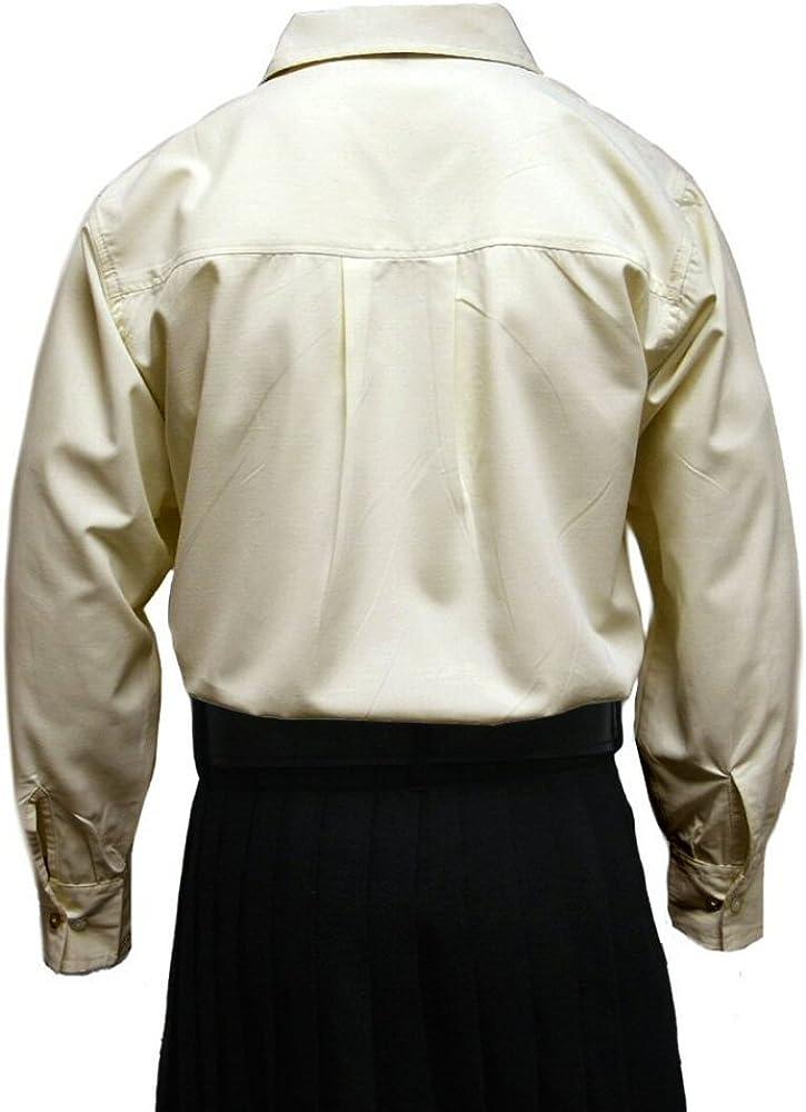 Tartanista - Camisa Escocesa Tipo jacobita/Ghillie - Crema/Beige - S: Amazon.es: Ropa y accesorios