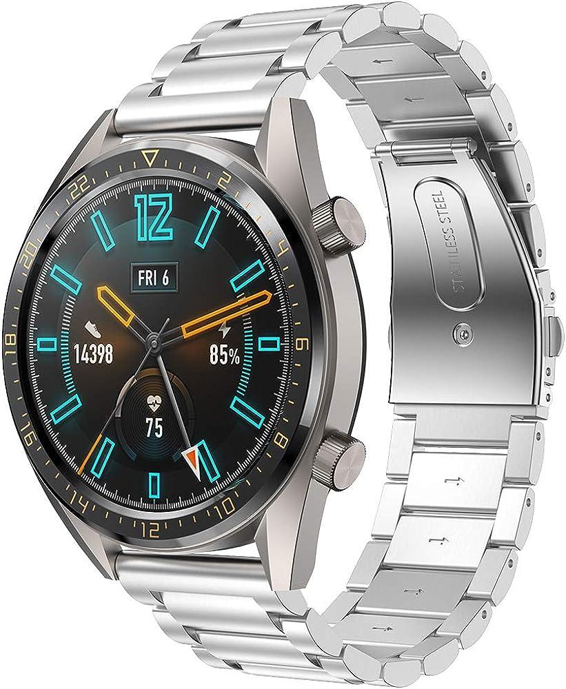 SUPORE Galaxy Watch 46mm Acero Inoxidable Banda, Gear S3 Reloj Correa de Reemplazo Tres Hebilla de Cuentas Diseño Correa para Gear S3 Classic/Frontier: Amazon.es: Ropa y accesorios