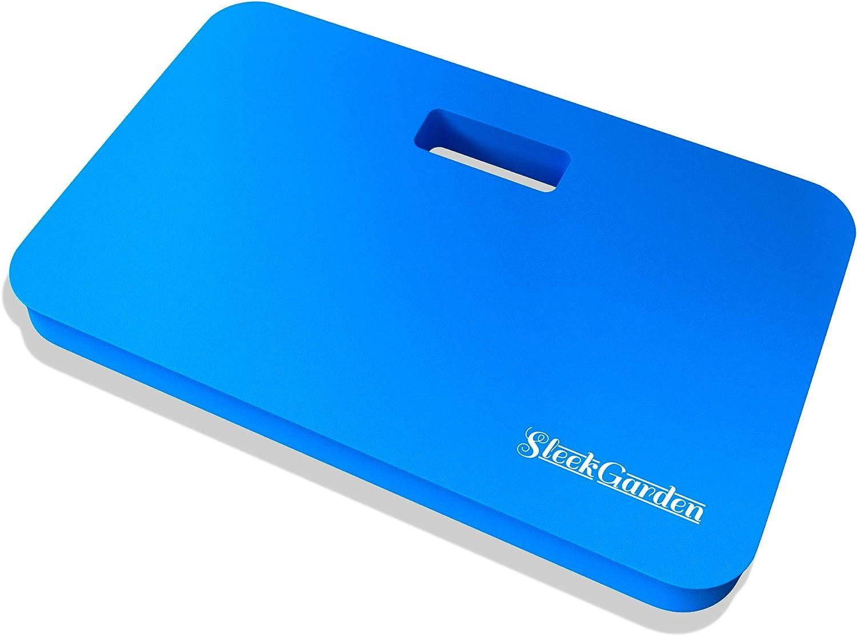 Sleek Garden Premium Thick Kneeling Pads Bath Floor Kneeler for Baby, Knee Pad Cushion for Pool | Thickest, Most Comfortable Foam Mat Kneeler for Yoga & Exercise,Waterproof Knee Pad 18x11x1.5(Blue)