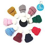 Carykon 10 Pcs Mini Knitting Hats DIY Crafts Wool