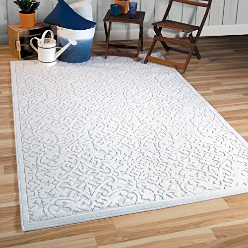 Orian Rugs Boucle Collection 397079 Indoor/Outdoor High-Low Biscay Area Rug, 5'2