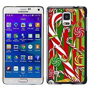 iKiki Tech / Estuche rígido - Cane Red White Xmas Christmas - Samsung Galaxy Note 4 SM-N910F SM-N910K SM-N910C SM-N910W8 SM-N910U SM-N910