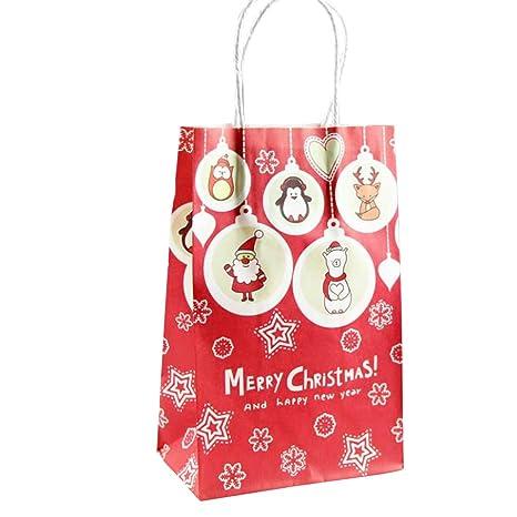 Oyfel Bolsas de Papel Kraft Navidad Regalos Infantiles ...