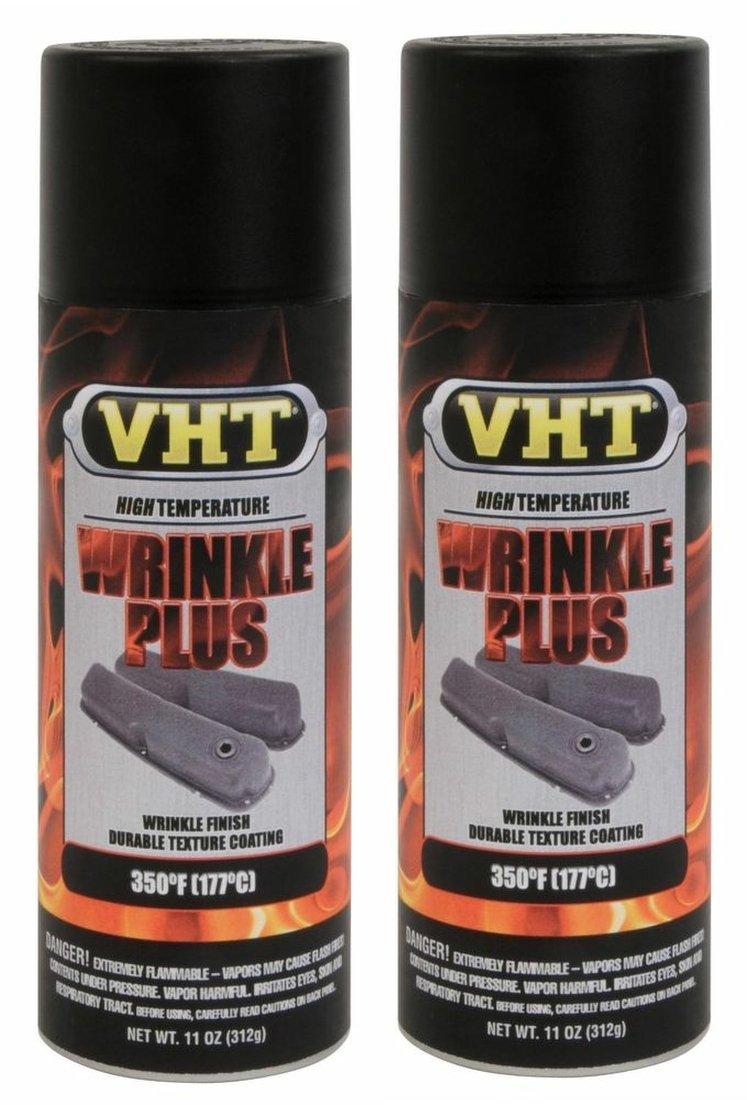 VHT Wrinkle Plus Coatings Paint High Temp SP201 Black 11 oz Spray - 2 PACK