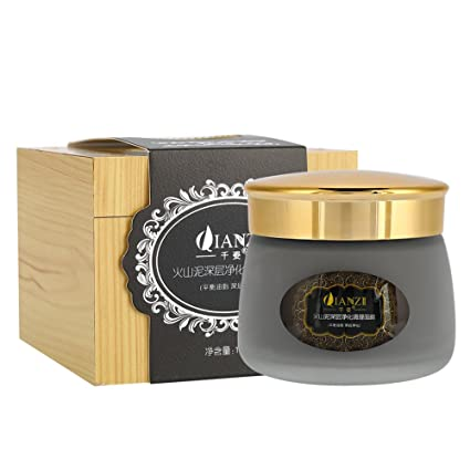 130g Volcanic Mud Deep Cleaning Facial Mask Oil-control Moisturizing Face Blackhead Removing Skin Care Tool
