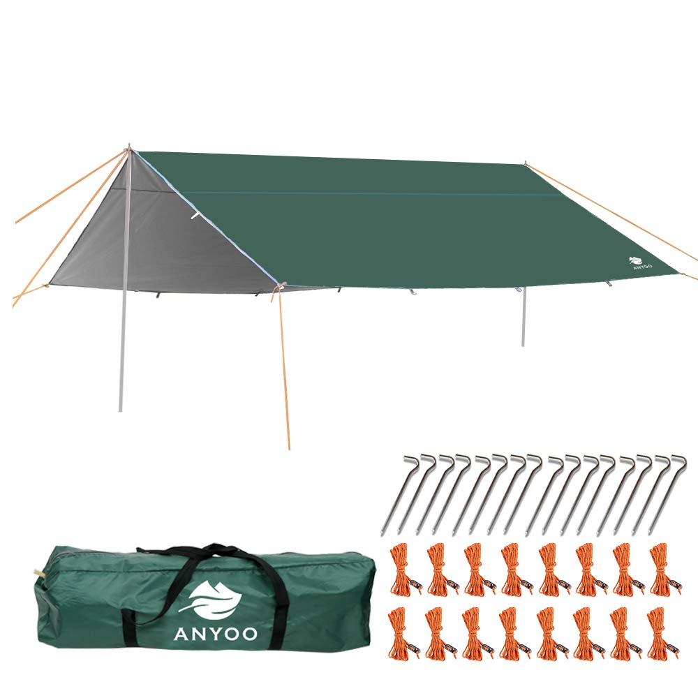 Anyoo Camping Tarp Shelter Lightweight Hammock Rain Fly Waterproof Durable Portable Compact for Fishing Beach Picnic by Anyoo