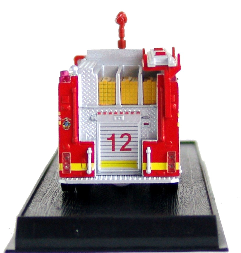 64/ Model Pierce Dash Top Mount Pumper Fire Truck Diecast 1 Amercom GB-16