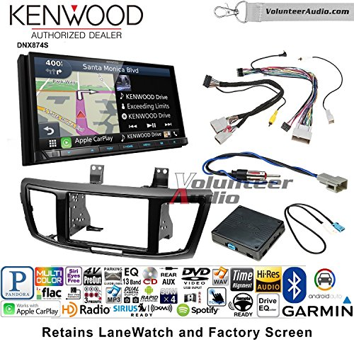 Volunteer Audio Kenwood DNX874S Double Din Radio Install Kit with GPS Navigation Apple CarPlay Android Auto Fits 2013-2015 Honda (Gps Audio Kit)