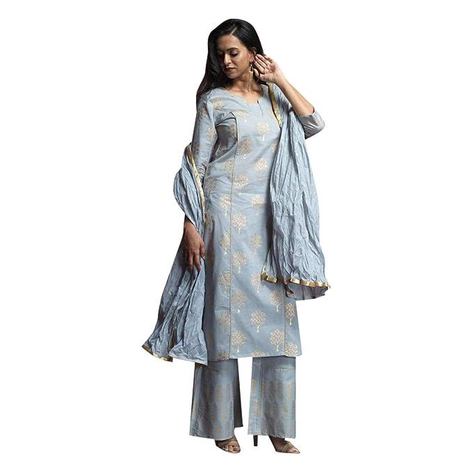 Amazon.com: Traje de princesa de seda, diseño indio Salwar ...
