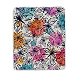 My Little Nest Warm Throw Blanket Retro Butterflies Lightweight MicrofiberSoft Blanket Everyday Use for Bed Couch Sofa 50'' x 60''