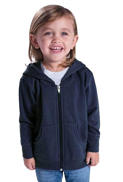d029fca3 Rabbit Skins Infant Fleece Long Sleeve Full Zip Hooded Sweatshirt (Heather,  2 Toddler)