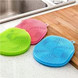 XENO-Silicone Sponge Kitchen Cleaning For Dish Washing Scrubber antibacterial Tools