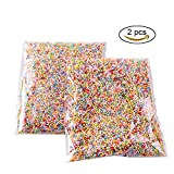 GOGOONLY Pack of 2 Mini Styrofoam Foam Balls 0.08-0.18 Inch Household School Arts Crafts Supplies Fits For Stick to Slime - Assorted Multi Colors (20000 Foam Balls)