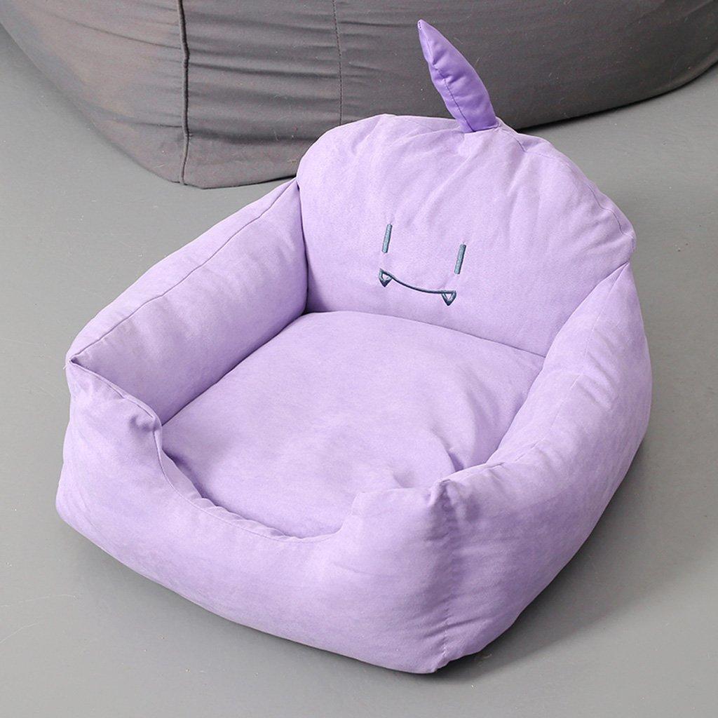 Cama suave del perro de la espuma de la memoria con Cover65 desmontable lavable 65 * 65cm (Color : Purple): Amazon.es: Coche y moto