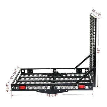 Amazon.com: 500lbs resistente silla de ruedas Hitch Carrier ...