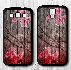 Red Floral Bird On Printed Wood Cover Case For Samsung Galaxy S4 + Screen Protector + Earphone Anti Dust Plug + Retail Package by ruishername