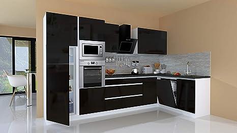 respekta Winkelküche Küchenzeile Küche L-Form Küche grifflos ...