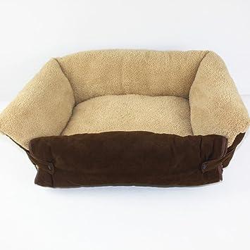 Gato del perro caliente suave camas para mascotas Almohada Cama Cachorro Sofa Sofa Mat perrera Pad Muebles 55*36*18cm: Amazon.es: Hogar