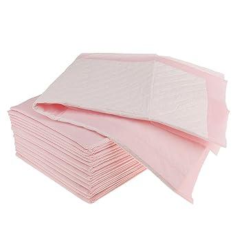 Gazechimp 50 Pedazos Almohadillas Desechables para Incontinencia Colchones Protector de Cama - Rosado, 60x60c: Amazon.es: Hogar