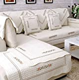 YANGYAYA Reversible Sofa slipcovers,Sofa protector cotton anti slip decorative sofa towel covers sets for living room cushion cover-furniture protector-G 90x90cm(35x35inch)