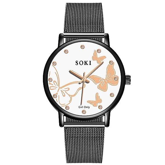 VRTUR SOKI Relojes Correa de Malla de Acero Inoxidable ...
