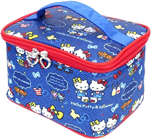 Hello Kitty Makeup Train Case Cosmetic Bag Holder Travel Organizer Water-resistant - Kitty Cosmetics Bag Hello